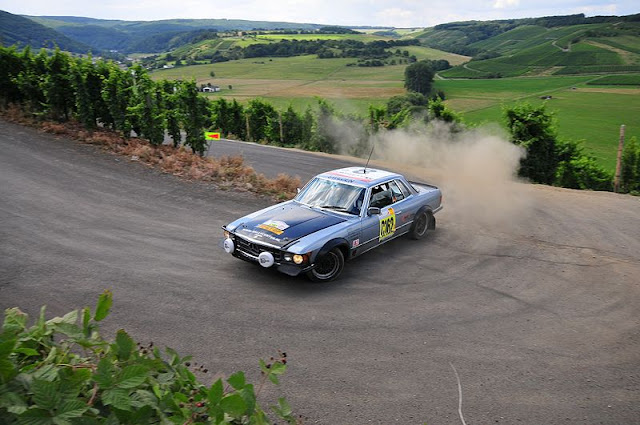 Historic rally classic race cars mercedes benz 450 slc for Rallye mercedes benz