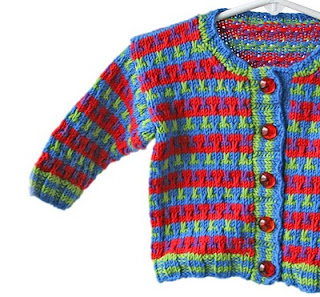 Multi-Colored Handknit Baby Cardigan