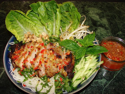 Vietnamese salad is always refreshing and appetising. Nuoc cham sauce ...
