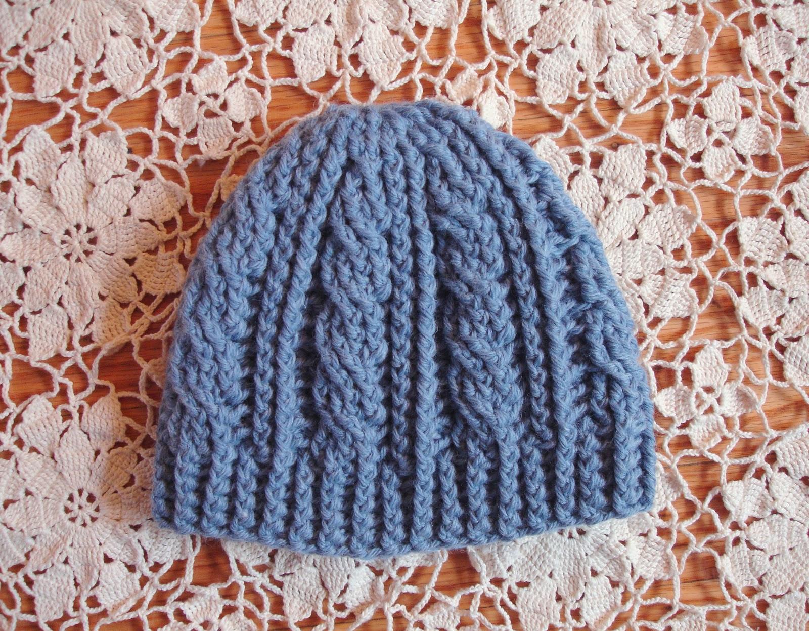 Crochet Cable Stitch Hat - Bomer