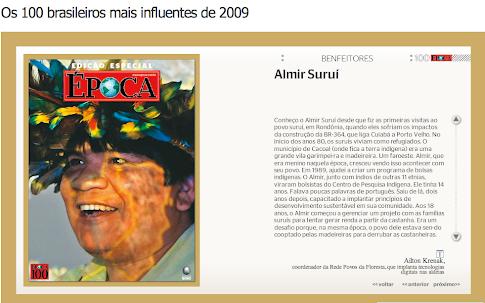 Almir Surui é um dos 100 brasileiros mais influentes em 2009