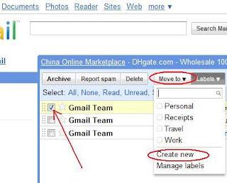 Cara membuat label atau folder di Gmail