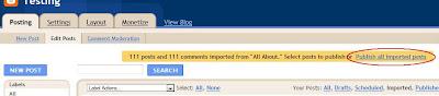 cara export import blog anda