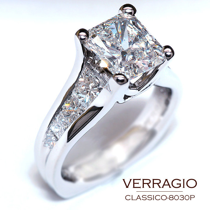 classico 8030p engagement ring it is perfect setting to showcase your diamond in this timeless and elegant engagement ring - Verragio Wedding Rings