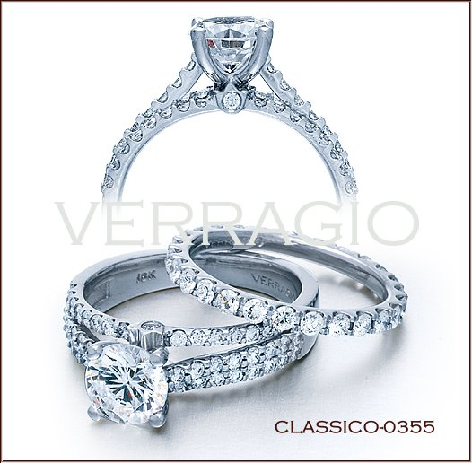 Interestingly Moores Engagement Ring Reminds Me Of Verragios Classico 0355 This Diamond Features A Shank That Is Solid At The Bottom But