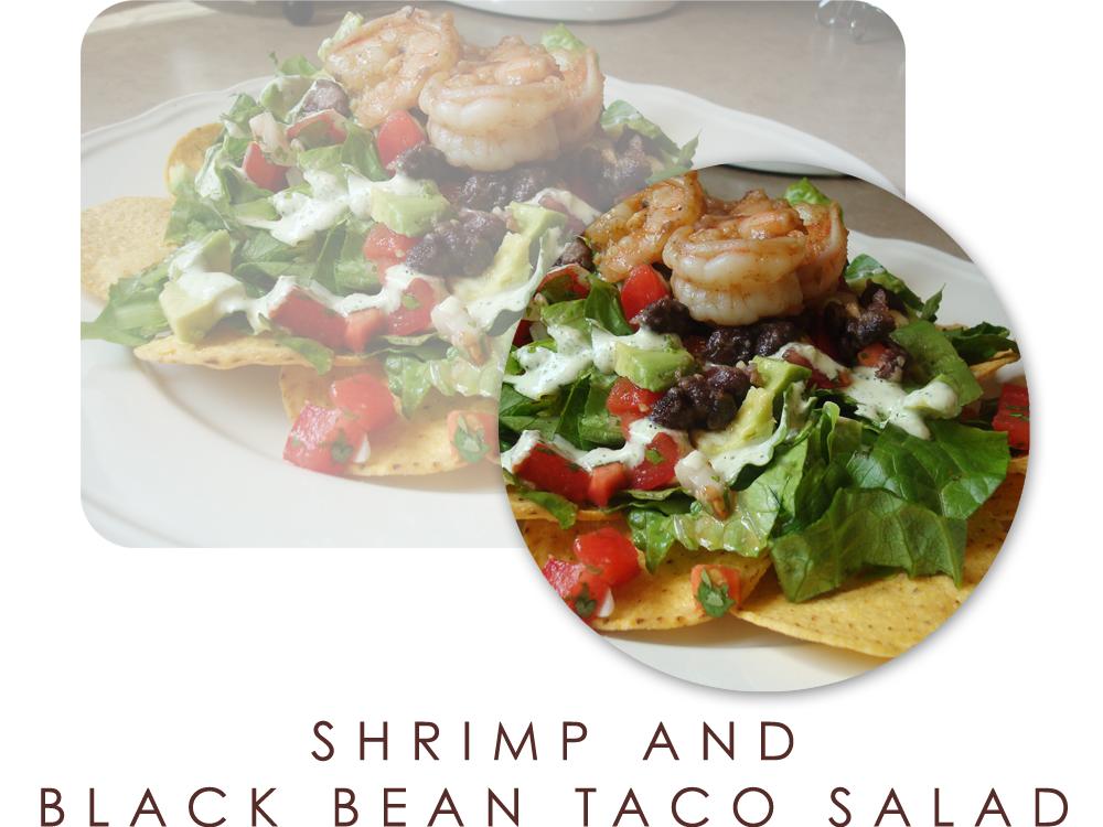 Shrimp and Black Bean Taco Salad