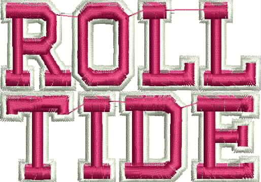 Palmetto State Embroidery Alabama Roll Tide Machine Embroidery Design