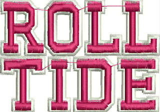 alabama crimson tide roll tide logo digitized for machine embroidery ...