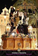 Portada libro de horarios Semana Santa Almería 2011