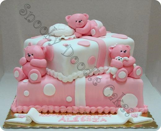 Snooky doodle Cakes Cute bears birthday cake