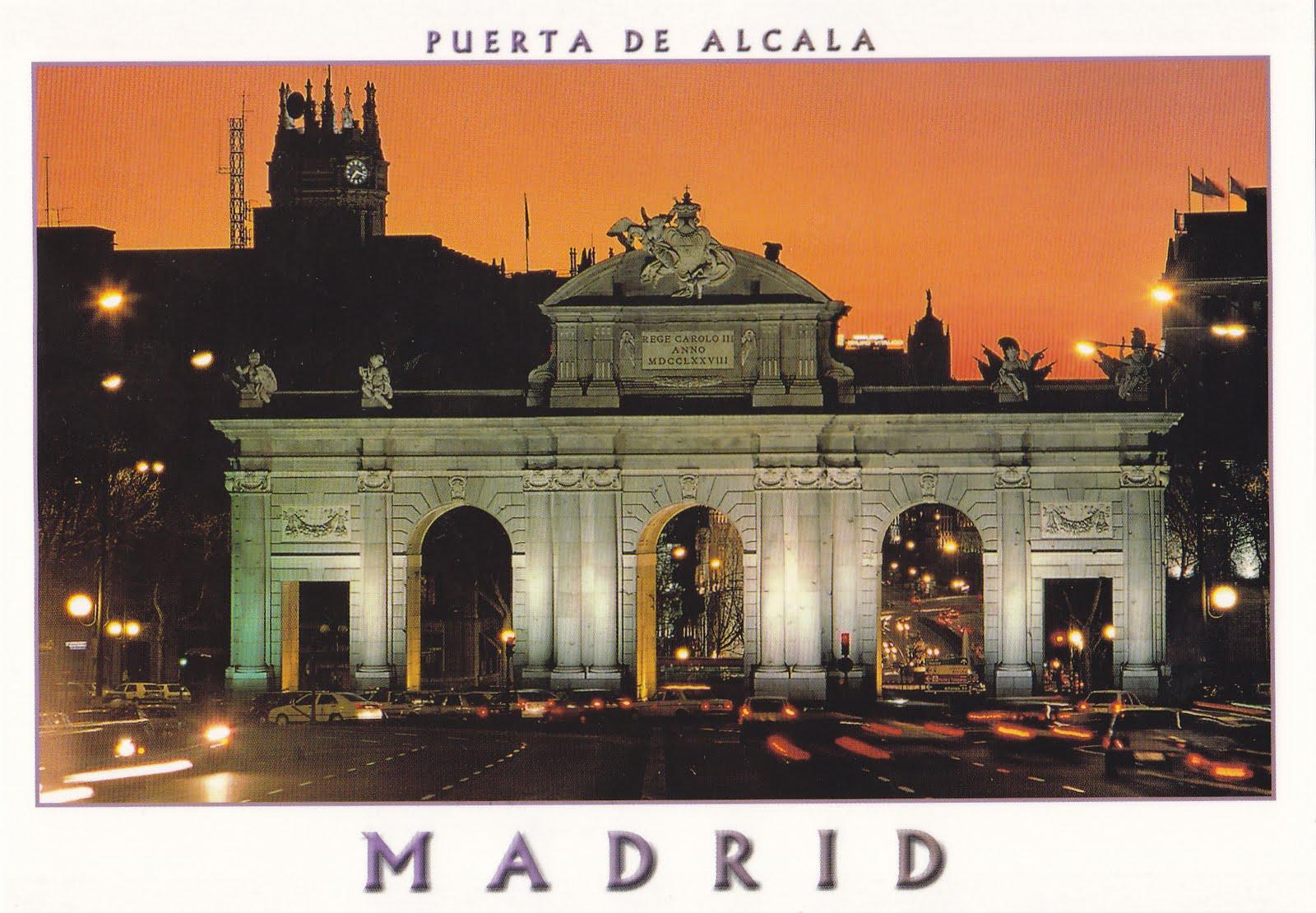 postcard journey around the world  madrid