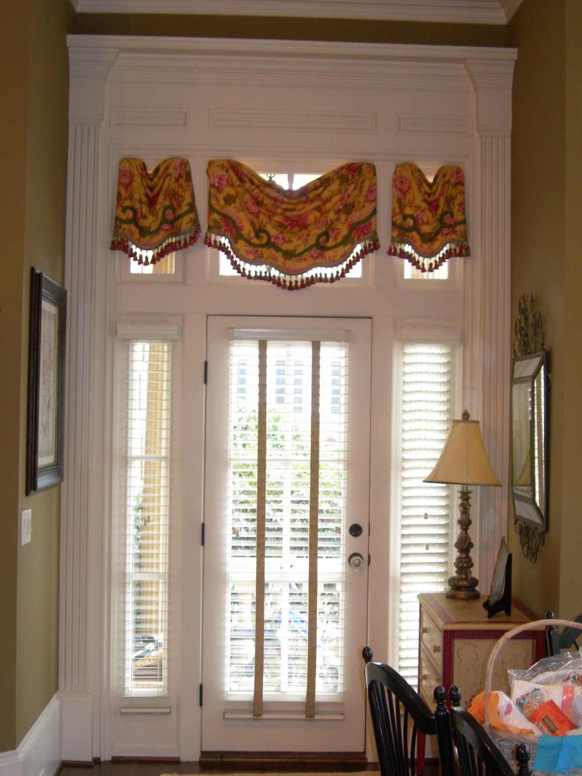 Youngblood interiors treatments for transom windows for Transom windows
