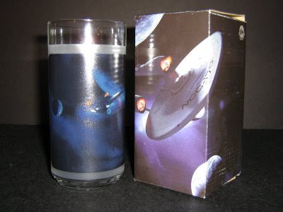 Back of Kirk's glass and box, ship is the Enterprise