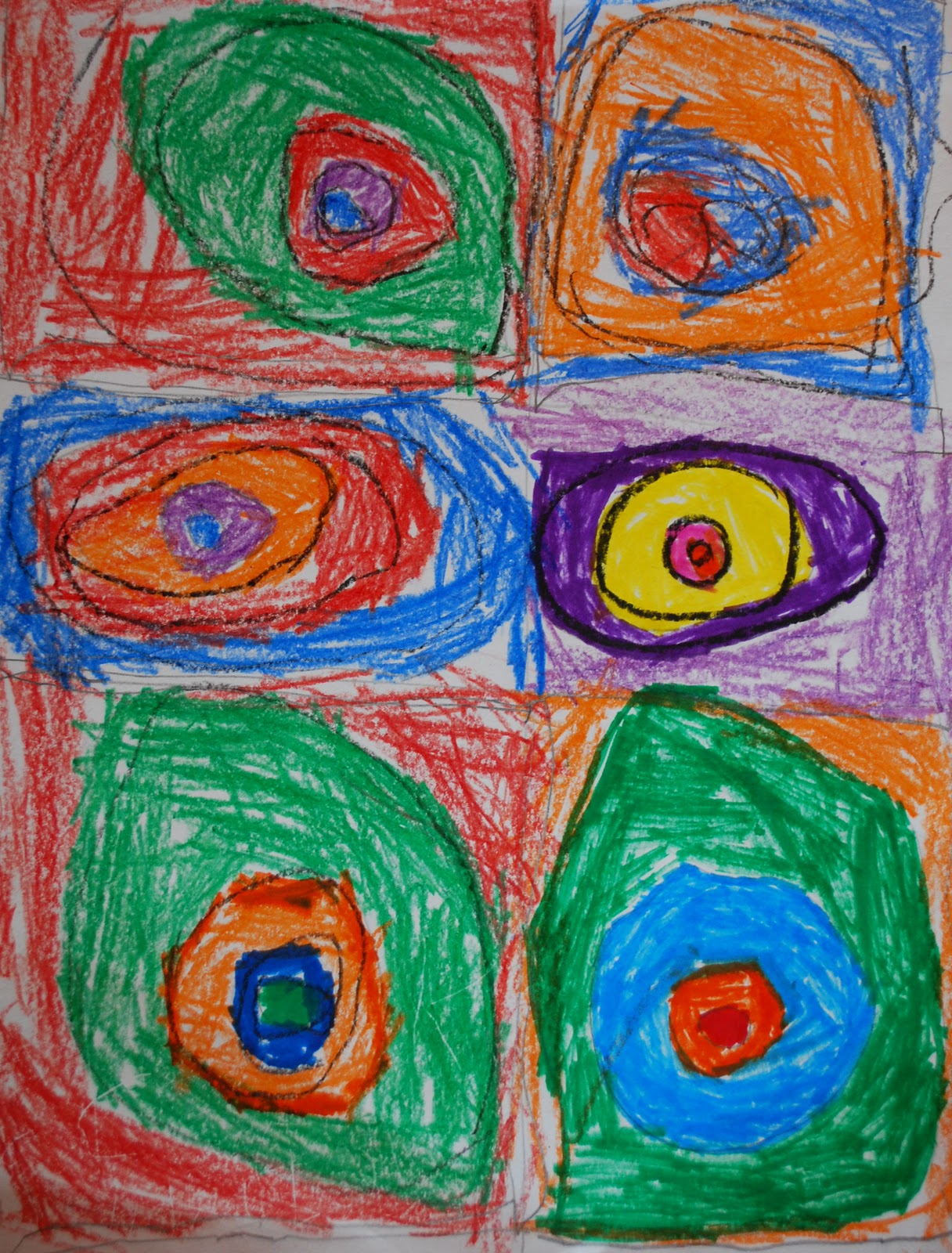 Adventures Of An Art Teacher Kindergarten Concentric Circles My