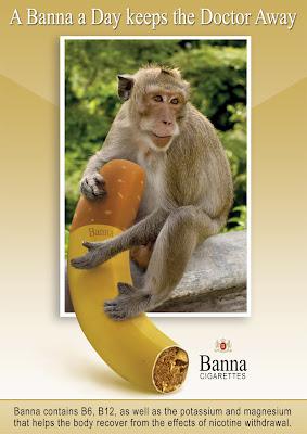monkey cigar banana picture