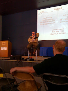 Jeff Greason from XCOR presents at EAA AirVenture 2008. Photo Credit: D. Trujillo, X PRIZE Foundation