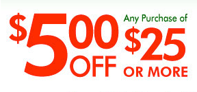 photo about Family Dollar Printable Application named Greenback In general Household Greenback: $5 off a $25 Acquire