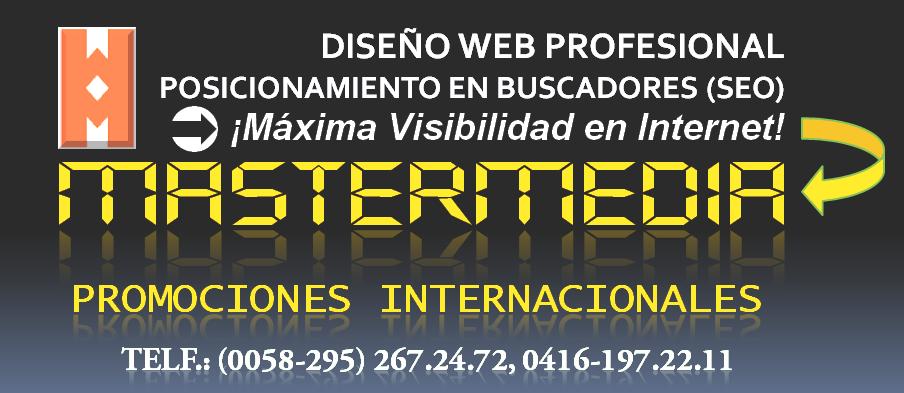 WEB en MARGARITA: Posicionamiento SEO de páginas web en Margarita: MASTERMEDIA Margarita