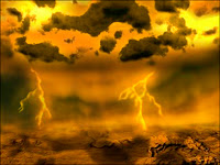 Illustration artistique de l'atmosphère de Vénus. Document ESA.
