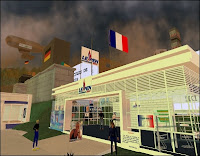 Le Front National à son bureau sur Second Life.