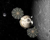 Le CEV Orion assurant une mission de reconnaissance orbitale. Document NASA.