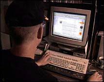 Pirate sur le site de la police fédérale belge (simulation).