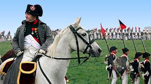Reconstitution de la batille de Waterloo