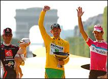 L'arrivée du Tour de France.