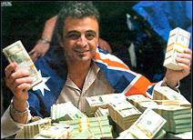 L'Australien Joseph Hachem, champion du monde de poker.