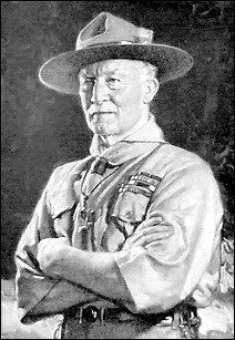 Photo originale de Robert Baden-Powell prise vers 1907. Elle sera colorisée par la suite.