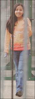 Angelica, incarcérée à 11 ans par dénonciation raciste au centre fermé 127bis pour illégaux. Le centre abrite 13 mineurs. La Belgique ne respecte pas les Droits de l'homme. Document La Libre Belgique.