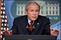 Le Président George W. Bush invite les Grandes Puissances à une conférence sur le changement climatique à Washington les 27 et 28 septembre 2007. Document Reuters.