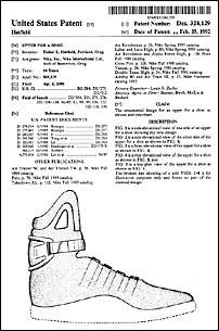 Le brevet des sneakers McFly 2015 déposé par Nike.