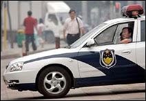 La police chinoise, ici photographiée à Pékin.