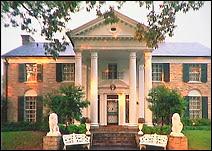 Graceland, la propriété d'Elvis Presley à Memphis, TN.