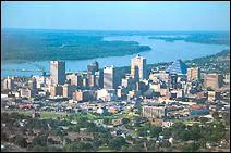 Vue aérienne de Memphis.