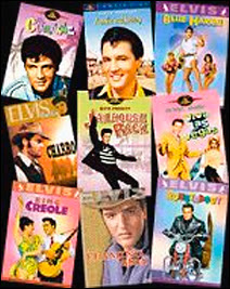 Quelques uns parmi les 31 films d'Elvis presley disponibles en DVD.