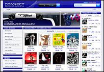 Le site CONNECT de Sony.