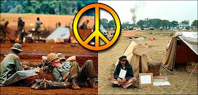 GIs protestant contre la guerre du Vietnam durant leur temps libre.