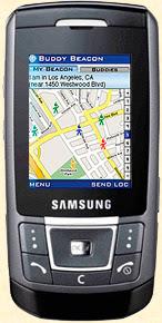 Le GSM Samsung SGH-D900 équipé du logiciel Loopt de Sprint (USA).