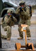 Un robot iRobot appuyant les soldats en Irak.