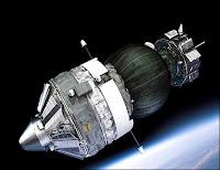La capsule Foton-M3 et sa charge utile sphérique. Document ESA.