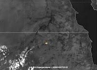 Désintégration du NEO 2008 TC3 au-dessus du NE du Soudain. Document Meteosat 8.