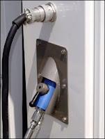 Station service équipée d'une pompe à hydrogène.