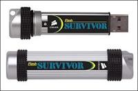 Clé USB Corsair Survivor de 32 GB (100 €).