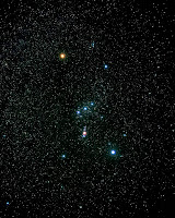 La constellation d'Orion. Document Akira Fujii.