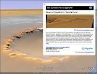 Un paysage tridimensionnel de Mars tel que vous le propose Google Earth.