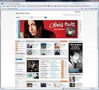Page Internet du Nokia Music Store.