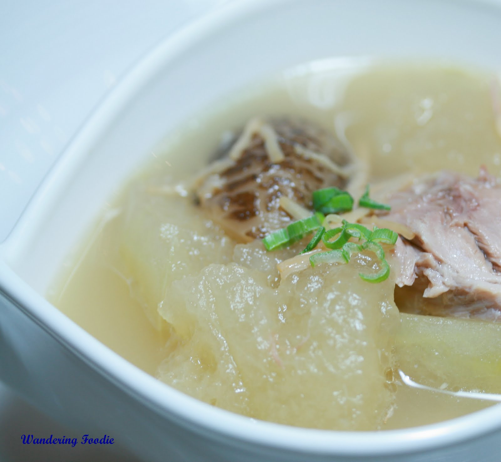 Hearty winter melon soup.