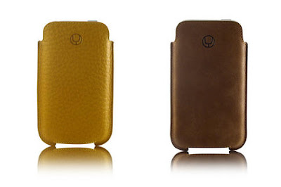 yellow and tan leather iphone case